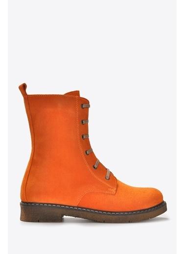 Vizon Ayakkabı Bot Oranj